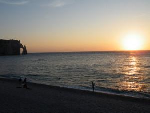 Magnifique coucher de soleil sur Etretat